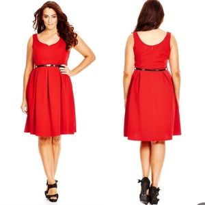 NWT City Chic red sweetheart fit and flare dress